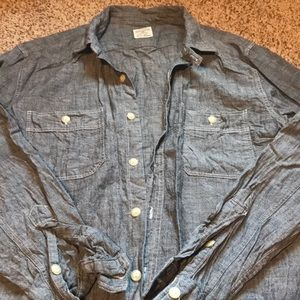 Jcrew grey chambray button down